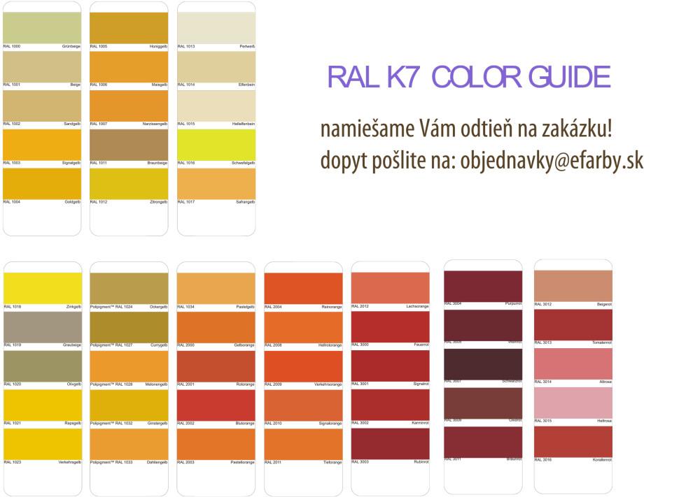 RAL 1 miesanie farieb na kov