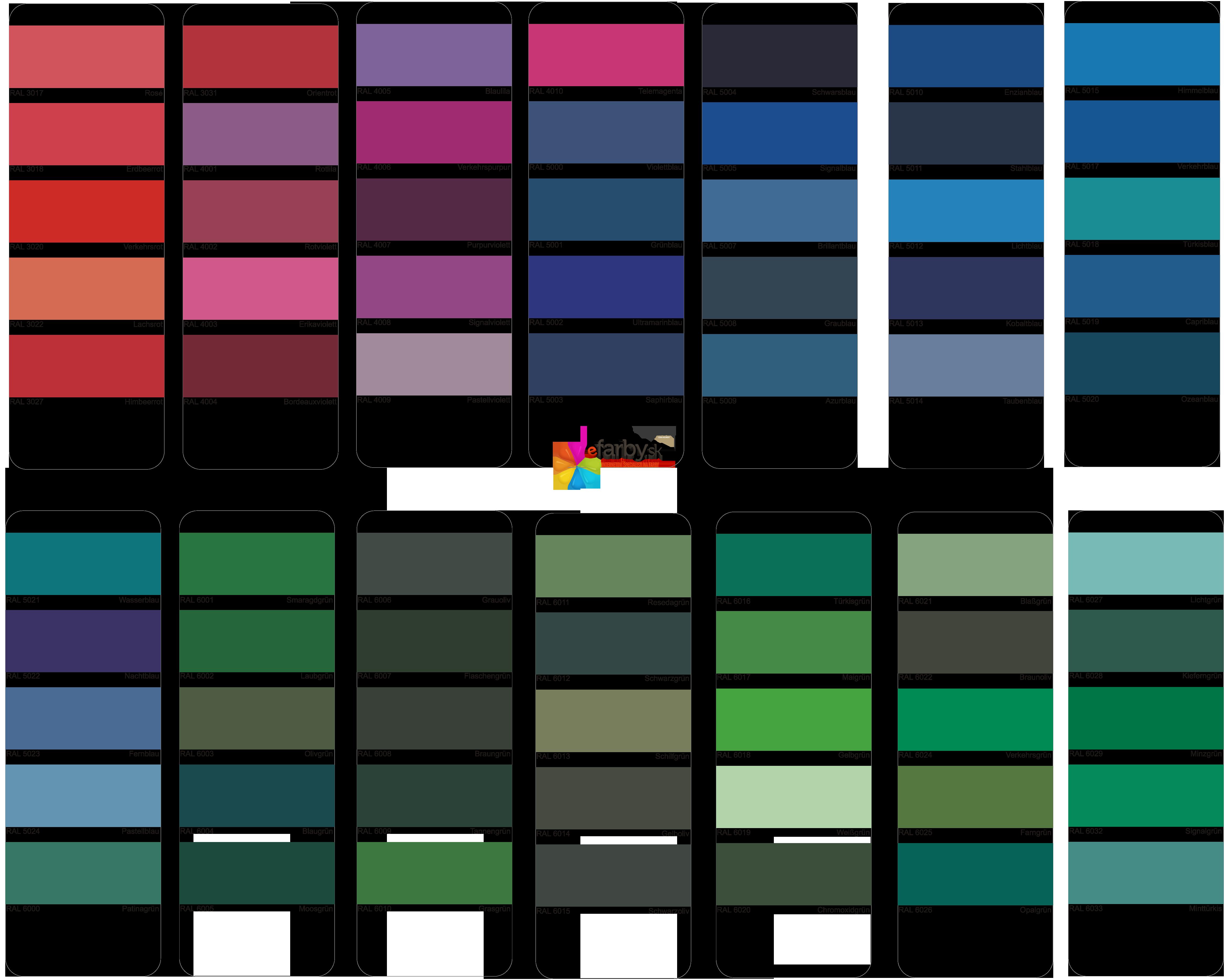 Vzorkovnik_RAL-2 miesanie farieb na kov