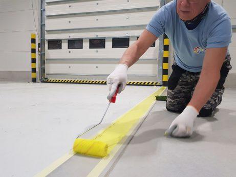 maľovanie bezpečnostných zón na podlahe