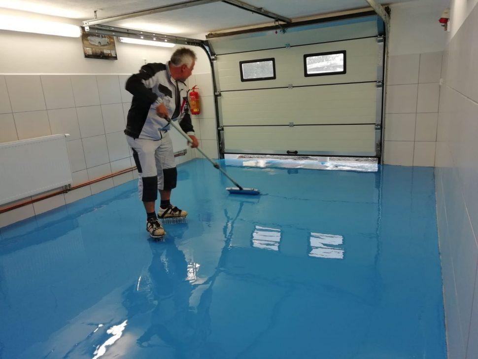 Epoxyban epoxidová farba na betónovú podlahu