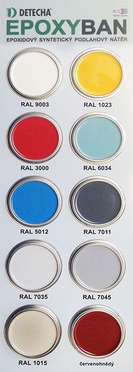 Epoxyban farba na beton vzorkovnik