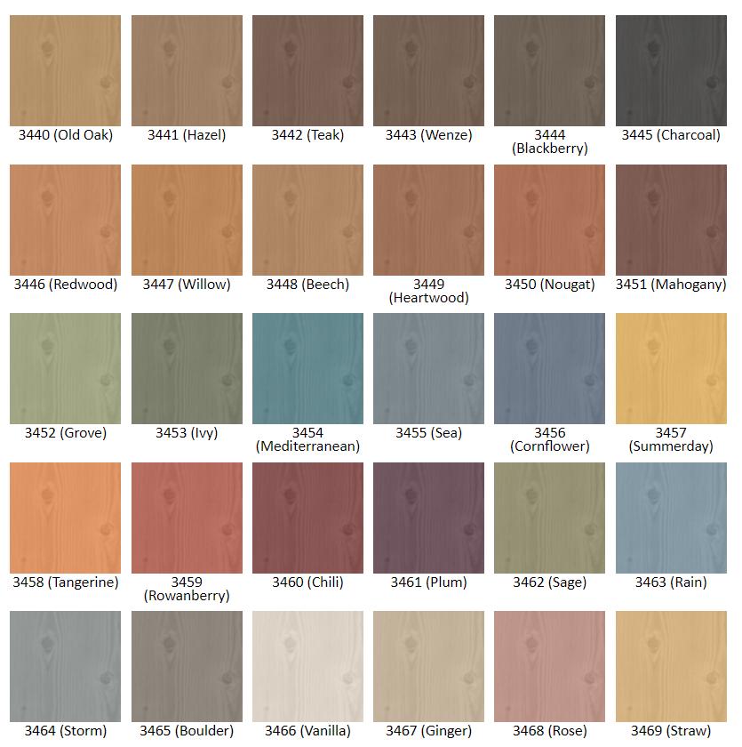 Pirtti panel stain vzorkovník